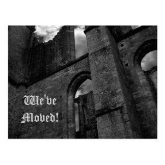 Alte Ruinen, die auf neue Adresse sich bewegen Postkarte