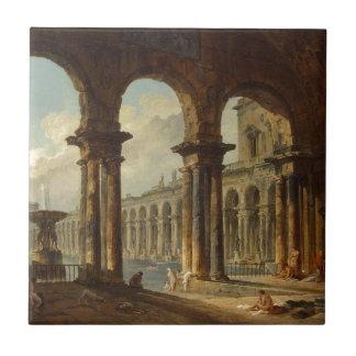 Alte Ruinen verwendet als allgemeine Bäder Hubert Fliese