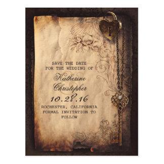 alte Save the Date Postkarten des Vintagen