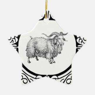 alte Schafanzeige Keramik Ornament