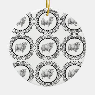 alte Schafe im Bündel Keramik Ornament