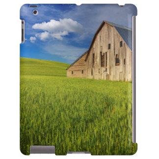 Alte Scheune auf dem Gebiet des Frühjahrsweizens iPad Hülle