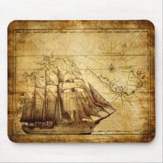 Alte Schiffs-Karten-Mausunterlage Mousepads