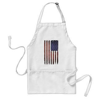 Alte Schmutz-amerikanische Flagge Schürze