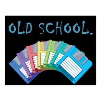 alte Schuldisketten Postkarte