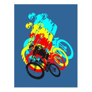Alte Schule MTB/Versuchsfahrrad Wheelie Postkarte