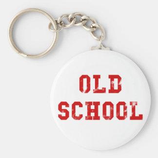 Alte Schule Standard Runder Schlüsselanhänger