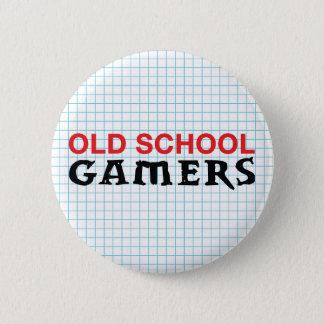 Alte Schulgamers-Knopf Runder Button 5,1 Cm