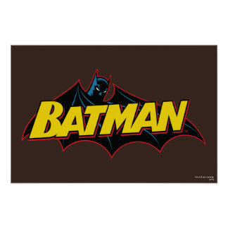 Alte Schullogo Batmans | Poster