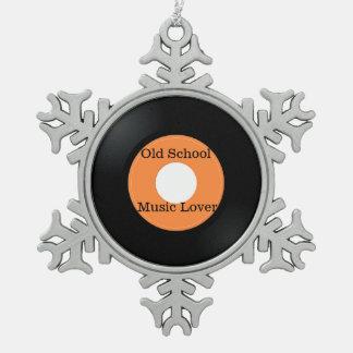 Alte SchulMusikfreund-Verzierung Schneeflocken Zinn-Ornament