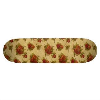 Alte SchulSkateboard mit Vintagem Blumendruck Personalisierte Skateboards