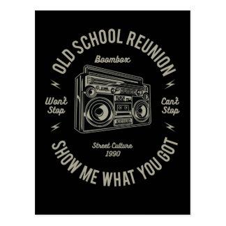 Alte SchulWiedersehen zeigen mir, was u Boombox Postkarte