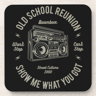 Alte SchulWiedersehen zeigen mir, was u Boombox Untersetzer