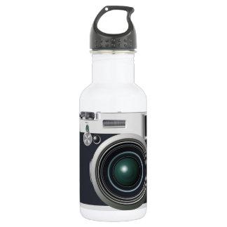 Alte schwarze Kamera Edelstahlflasche