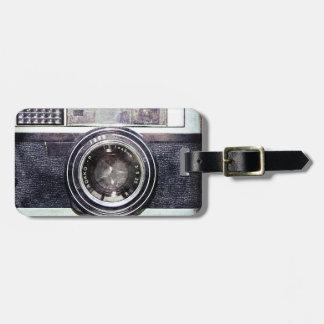 Alte schwarze Kamera Kofferanhänger