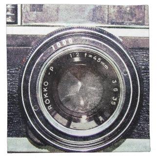 Alte schwarze Kamera Stoffserviette