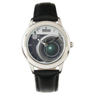 Alte schwarze Kamera Uhr