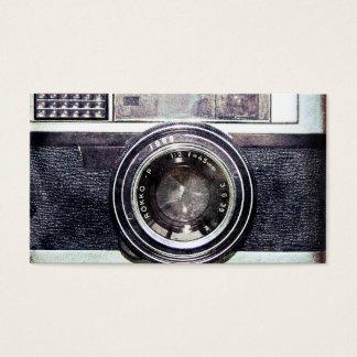 Alte schwarze Kamera Visitenkarte
