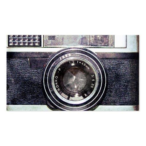 Alte schwarze Kamera Visitenkarten Vorlage