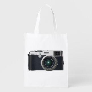 Alte schwarze Kamera Wiederverwendbare Einkaufstasche