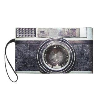 Alte schwarze Kamera Wristlet