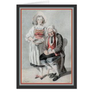 Alte Schweizer Kostüme durch Franz Niklaus König Karte
