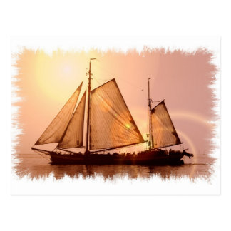 Alte Segelschiff-Postkarte Postkarte