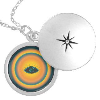 Alte sehende Augen-Stammes- Entwurfs-blaue Orange Amuletten