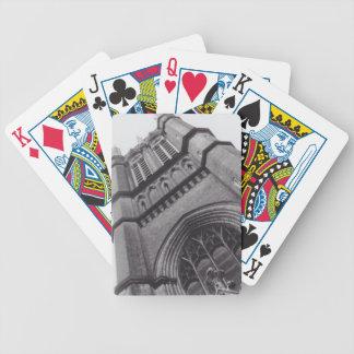 Alte Spielkarten der Kirchen-(Fahrrad)