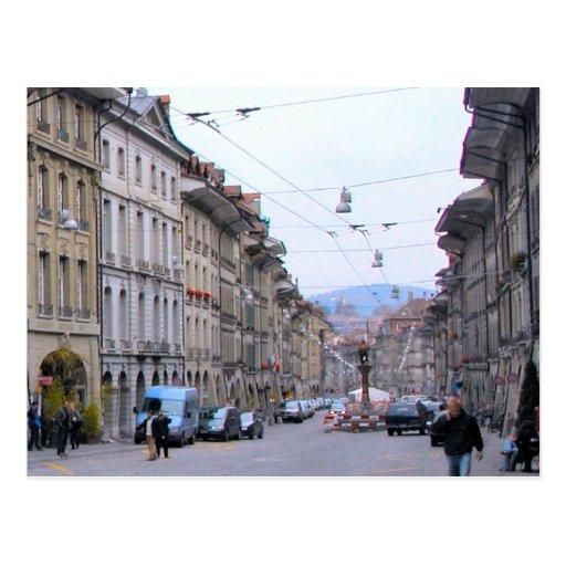 Alte Stadt Berns - Haupteinkaufsstraße Postkarte
