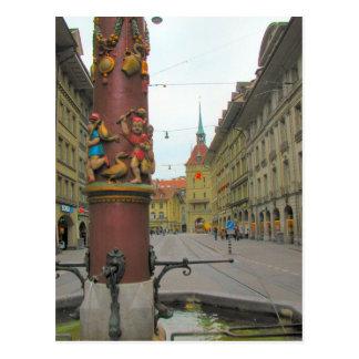 Alte Stadt Berns - mittelalterlicher Brunnen und c Postkarten