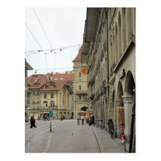 Alte Stadt Berns - Säulengänge und clocktower Postkarte
