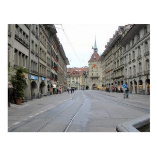Alte Stadt Berns - Straße und clocktower mit Arkad Postkarte