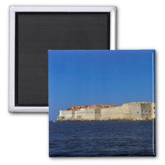 Alte Stadt Dubrovniks, Kroatien Quadratischer Magnet