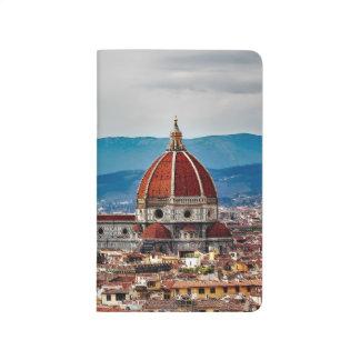 Alte Stadt Florenz, Italien-Skyline Taschennotizbuch