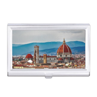 Alte Stadt Florenz, Italien-Skyline Visitenkarten Dose