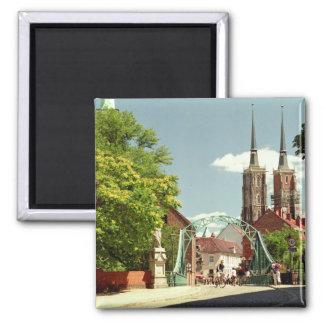Alte Stadt in Breslau Quadratischer Magnet