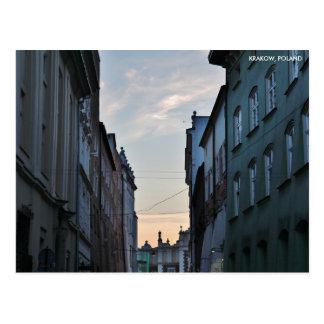 Alte Stadt Krakaus, mit Stadt-Text Postkarte