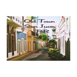 Alte Stadt San Juan Puerto Rico Leinwanddruck