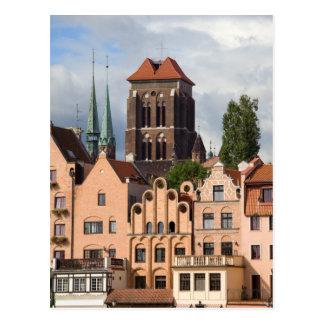 Alte Stadt von Gdansk in Polen Postkarte