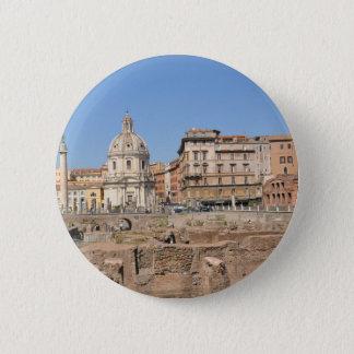 Alte Stadt von Rom, Italien Runder Button 5,7 Cm