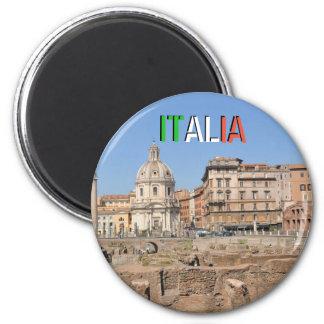 Alte Stadt von Rom, Italien Runder Magnet 5,1 Cm