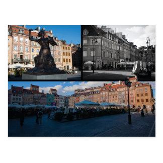 Alte Stadt Warschaus Postkarte