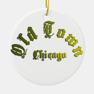 Alte Stadtchicago-Keramik-Verzierung Keramik Ornament