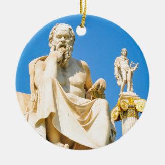 Alte Statue des Philosophen in Athen, Griechenland Keramik Ornament