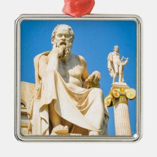 Alte Statue des Philosophen in Athen, Griechenland Silbernes Ornament