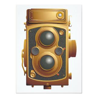 Alte Steampunk Kamera 16,5 X 22,2 Cm Einladungskarte