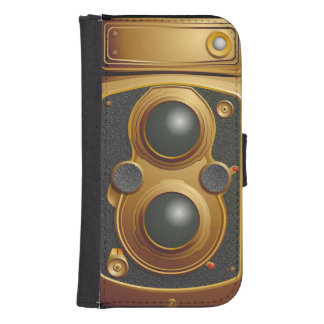 Alte Steampunk Kamera Samsung S4 Geldbeutel Hülle