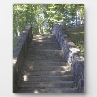 Alte Steintreppe Fotoplatte