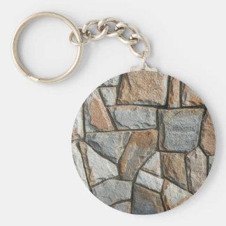 Alte Steinwandstruktur Schlüsselanhänger
